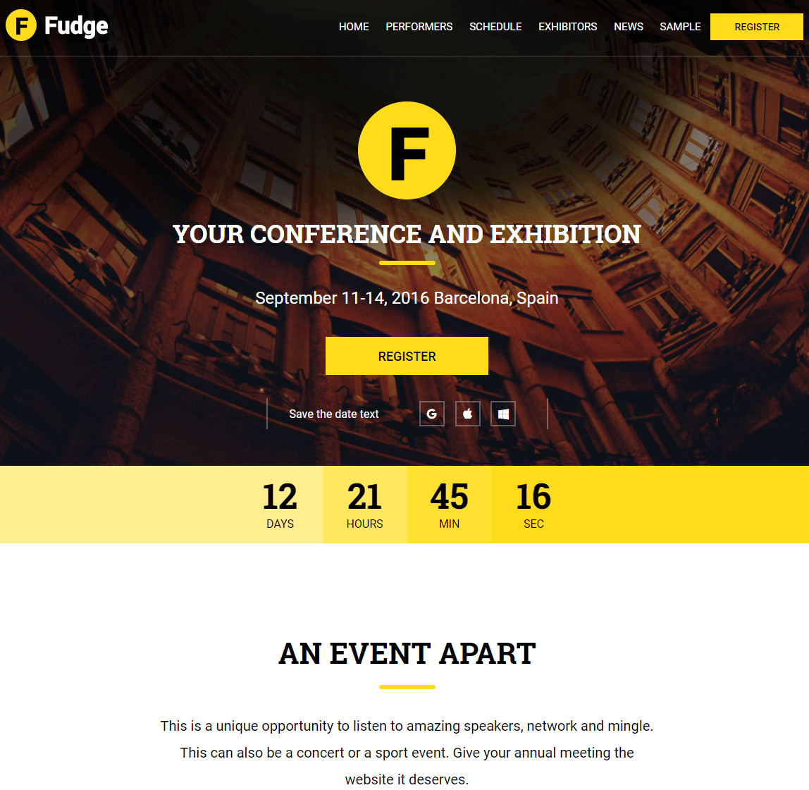 Fudge Event WP Theme