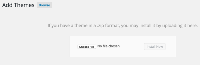 cargar WordPress Zip folder